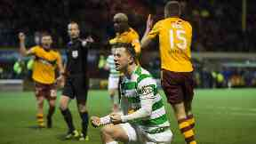 Controversy: Celtic won a late penalty.