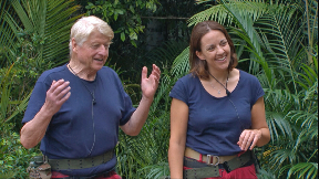 Grand coalition: Kezia with Stanley Johnson for the Bushtucker Trial.