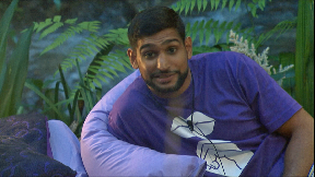 Amir Khan seemed to enjoy slagging off his campmates.
