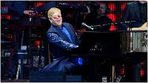 Rocket man: Elton John performing at Meadowbank in June 2016.