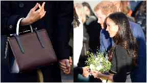 Royal: The £455 handbag sold out after  it was chosen by Meghan for her first royal engagement.