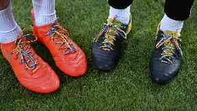 Players across the Premiership wore rainbow laces in support of LGBT people in sport.