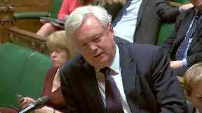David Davis: The Brexit secretary was in Brussels when the talks collapsed.