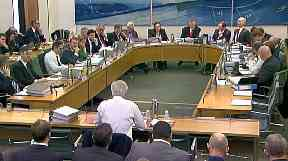 Mr Davis was questioned by the cross-party committee.