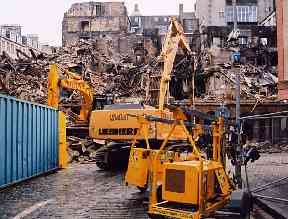 This photo was taken from the foot of Blair Street following the collapse of a wall.