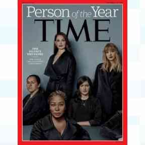 The Time Magazine front cover announcing the 'Silence Breakers' as this year's winner.