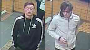 CCTV: Police would like to speak to two men.