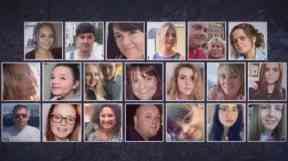 The Manchester Arena bombing victims.