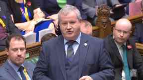 Ian Blackford: Pointed out Government was responsible for timetable (file pic).