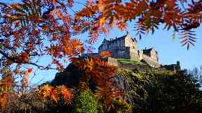 Edinburgh Castle: View of landmark was blocked.