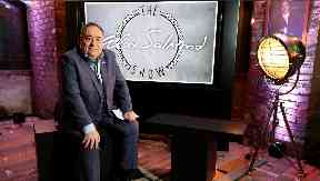 Alex Salmond: His show on RT is broadcast every Thursday.