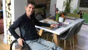 In recovery: Alan at home in Kinross.