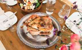 Some families opt for chicken or goose instead of turkey.