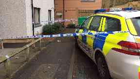 Court: Street was cordoned off.