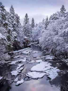 Ice river at Invermoriston.