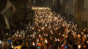 Torchlight procession: Annual event gets Hogmanay off to 'braw' start.