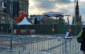 Princes Street: Wind-related debris forces partial closure.