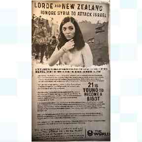 The advert taken out by Rabbi Shmuley Boteach's The World Values Network in the Washington Post.