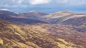 Rescue: The woman had been walking in the Drumochter hills.