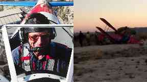 Crash: Donald Milne's plane came down near an airfield.