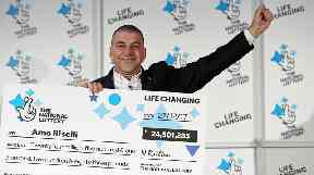 Amo Riselli has become a multi-millionaire after winning the Lotto top prize.