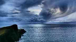 Moody skies: Neist Point on the Isle of Skye.