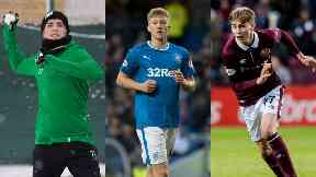 Prospects: Celtic's Mikey Johnston, Rangers' Ross McCrorie and Hearts' Harry Cochrane.
