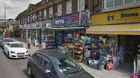 The attack took place at the Rota Express store in Mill Hill, north London.