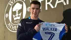Exit: Walker has left Hearts for Wigan.