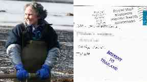 Mystery: Shona Marshall and the well-travelled letter.