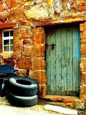 A wonderfully weathered door in Crail.