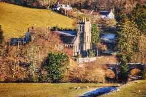 Country sunsine in Bentpath, Dumfriesshire.