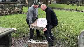 Repair: William Purves funeral directors restored the stone.