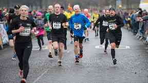 Event: The 5k route took runners on a scenic route.