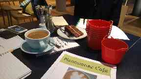 The menopause cafe events provide safe spaces to talk to people.