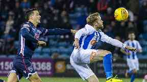 Tim Chow was deemed to have fouled Rory McKenzie inside the box.
