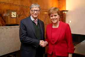 Poverty: Bill Gates meets First Minister Nicola Sturgeon in Edinburgh.