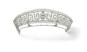 Tiara: Diamond and pearl item recovered from the Lusitania.