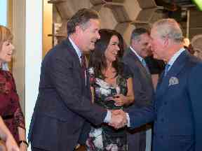 Prince Charles was introduced to Piers Morgan who recently interviewed Trump.