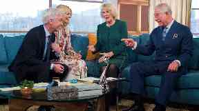 Phil and Holly chatted to the royals on the programme sofa.