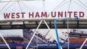 West Ham's stadium in Stratford, east London