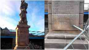 Despicable: War memorial vandalised.