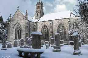 Kirk of Calder after a white flurry.