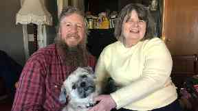 Relived: Dale and Sandra McIntier welcomed the good news.