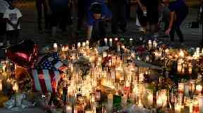Tributes to the 58 people killed by Stephen Paddock.