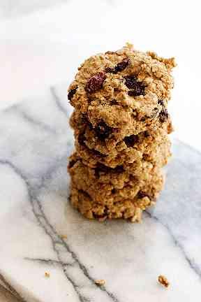 Oat and raisin cookies.