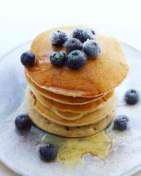 Pancakes made without any eggs or dairy were a hit.
