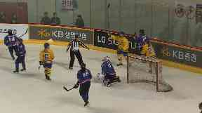 Koreas' combined women's hockey team lost to Sweden on their debut.