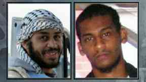 Alexanda Kotey, left, and El Shafee Elsheikh have reportedly been captured.