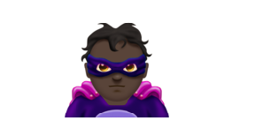 Bad guy: The Super villain emoji.